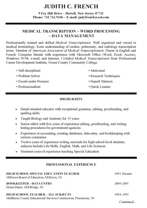 Education Resume by 6 Elementary Special Education Resume Penn Working Papers