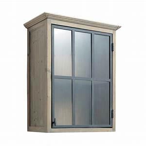 Meuble Haut Cuisine Vitré : meuble haut vitr de cuisine ouverture gauche en bois recycl l 60 cm ~ Teatrodelosmanantiales.com Idées de Décoration