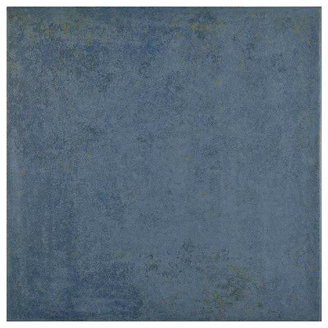 blue porcelain tiles merola tile rocinante azul 13 in x 13 in ceramic floor and wall tile 17 07 sq ft case