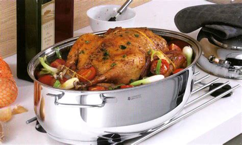 stainless steel roaster wmf extra deep oval covered inch function multi brand pot 25x11 cutleryandmore