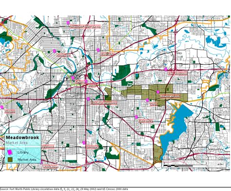 fort worth public library circulation maps