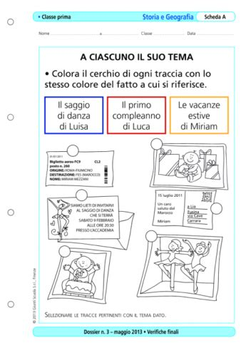 Test Ingresso Scienze Naturali Verifiche Finali Storia E Geografia Classe Prima La