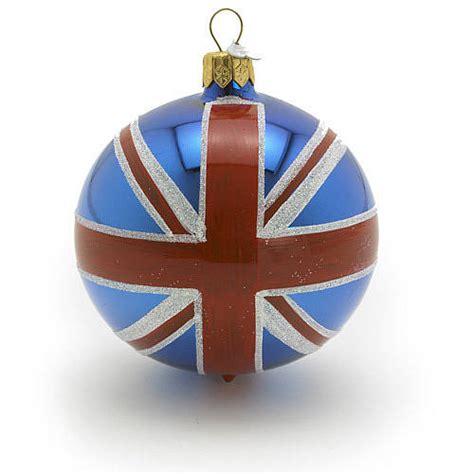 union jack glass christmas decoration  bombki