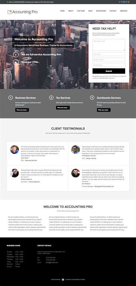 accounting pro theme  accountants accounting firms