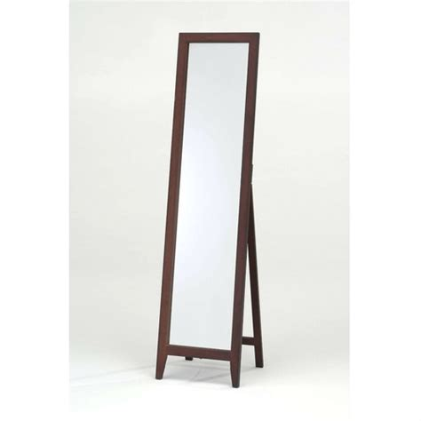 quality floor mirror contemporary solid wood floor mirror in walnut finish