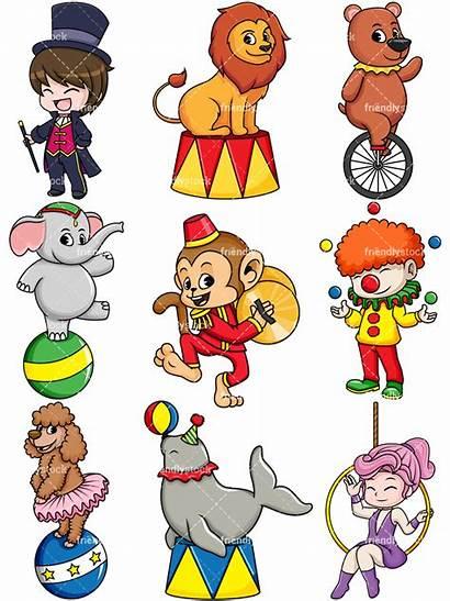 Circus Animals Animal Clipart Cartoon Vector Dog