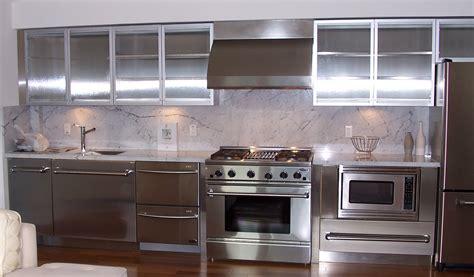 Unique Kitchen Countertop Ideas - stainless steel kitchen cabinets steelkitchen