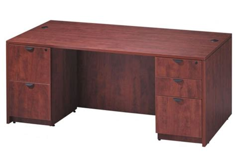 bureau classique bureau classique 60 quot à 71 quot de largeur avec caisson simple