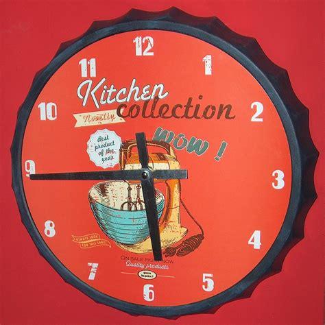 horloge cuisine vintage pendule deco pour cuisine