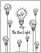 Light Drawing Bulb Coloring Bulbs Printable Getdrawings sketch template