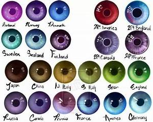 Eye Color Rarity Chart Hetalia Eye Color I Have Japan Eye Color