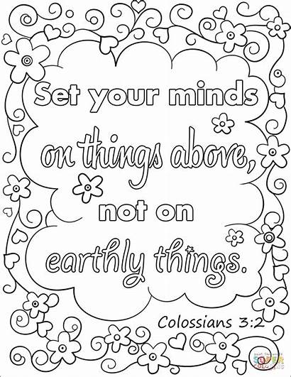 Coloring Things Above Pages Minds Earthly Bible