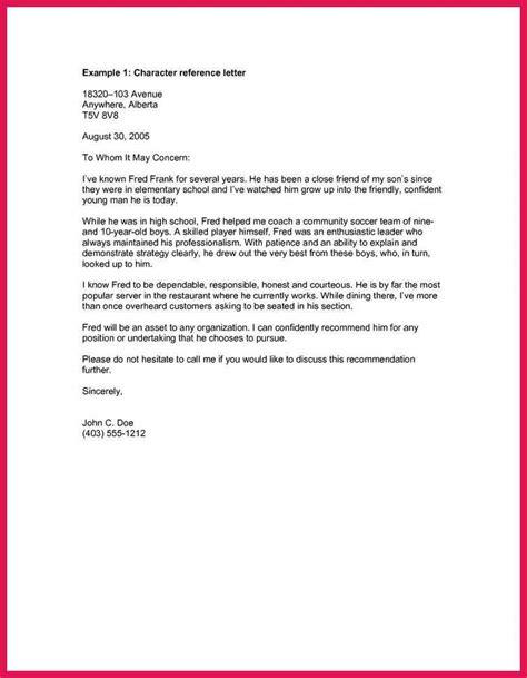moral character letter sop exles