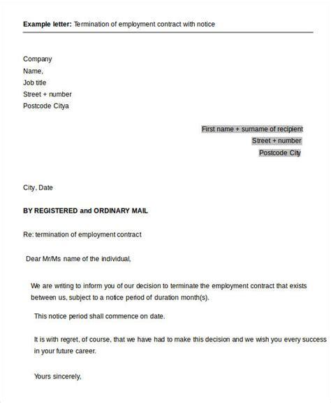 sample termination letter templates word pdfai