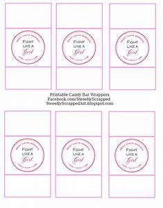 Breast cancer awareness free printables techblogsearchcom for Free printable candy bar wrappers templates