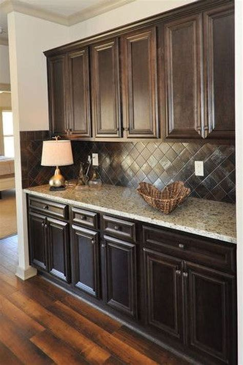 elegant kitchen backsplash decor ideas  dark