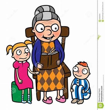 Grandmother Nonna Reading Clipart Lettura Libro Granny
