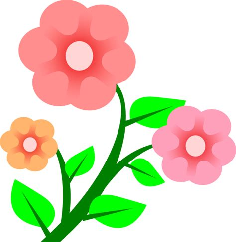 Free Flower Clipart Flowers Roses Clip At Clker Vector Clip
