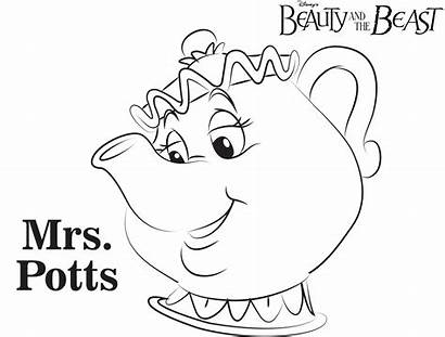 Potts Mrs Coloring Lumiere Chip Chips Beast