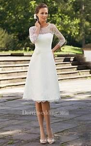 a line short scoop bell beading flower zipper lace sequins With short wedding dresses for older women