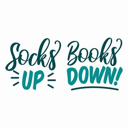 Socks Down Books Livros Meia Baixo Libros