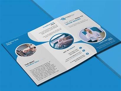 Fold Tri Brochure Behance Appreciate Corporate Hello