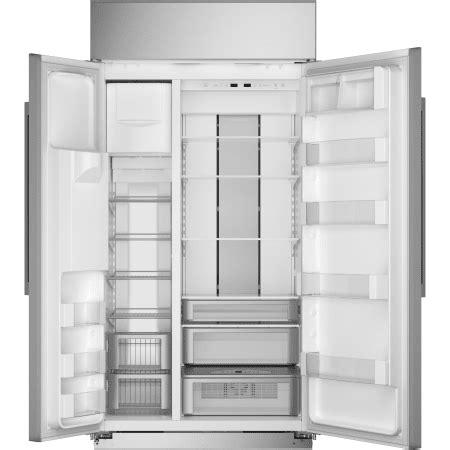 monogram zissdnss stainless steel   wide  cu ft side  side refrigerator