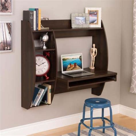 prepac wall mounted floating desk with storage in black prepac floating wall mounted desk with storage and