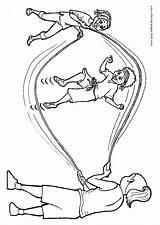 Coloring Rope Jump Barbarian Thundarr Clipart Heart Kleurplaten Popular Kleurplaat Library Template sketch template