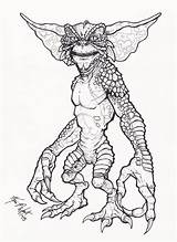 Gremlin Coloring Pages Drawing Gremlins Horror Deviantart Tattoo Drawings Halloween Cartoon Colouring Grim Adult Reaper Books Zombie Monster Totally Want sketch template