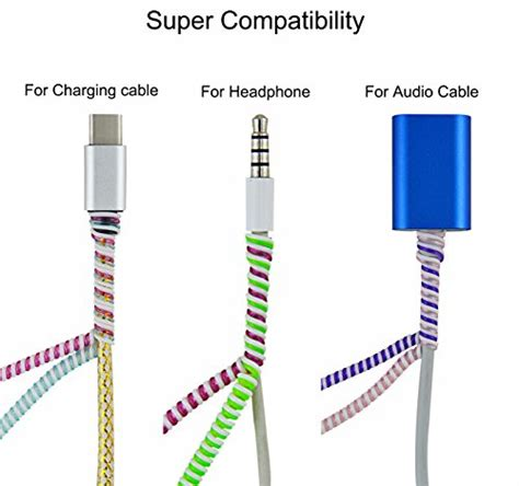 Headphone Wire Spiral by Rancco Wire Protectors Headphone Cable Saver 8 Pcs 50cm