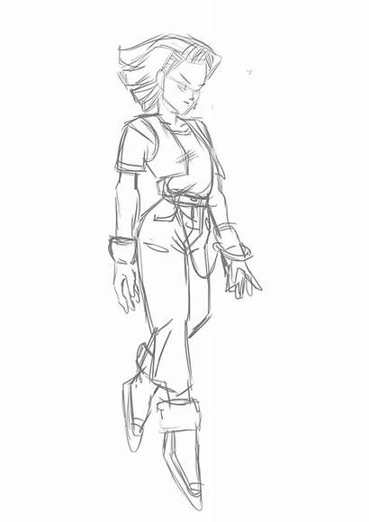 Android Dbz Sketch Android18 Clean Let