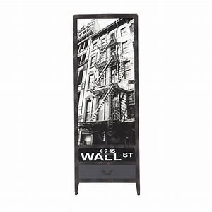 Kleiderschrank Aus Holz : kleiderschrank aus holz in metalloptik b 65 cm schwarz wall street maisons du monde ~ A.2002-acura-tl-radio.info Haus und Dekorationen
