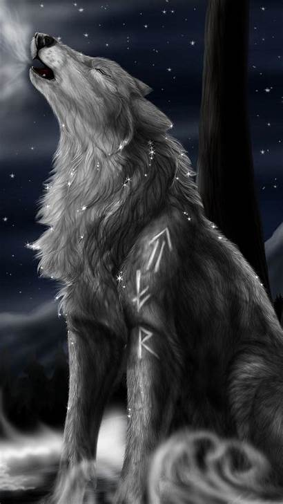 Wolf Galaxy Wallpapers Howling Desktop Wallpapersafari Mobile