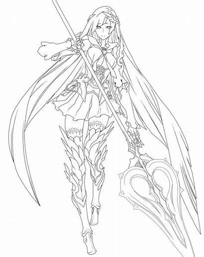 Fate Order Grand Lineart Deviantart Drawing Brynhild