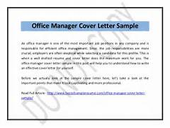 Office Manager Cover Letter Office Manager Cover Letter Office Manager Cover Letter Example Cover Letter Office Manager Free Cover Letter