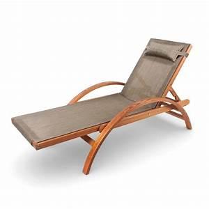Coussin Chaise Longue : ampel 24 chaise longue de jardin caribic 199x75cm en bois de m l ze dossier ajustable ~ Teatrodelosmanantiales.com Idées de Décoration