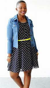 Dress and denim jacket outfit 6