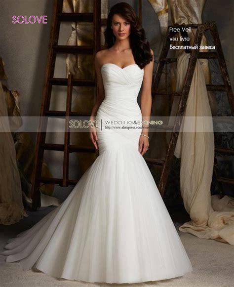 cheap elegant mermaid wedding dress  sweetheart bridal