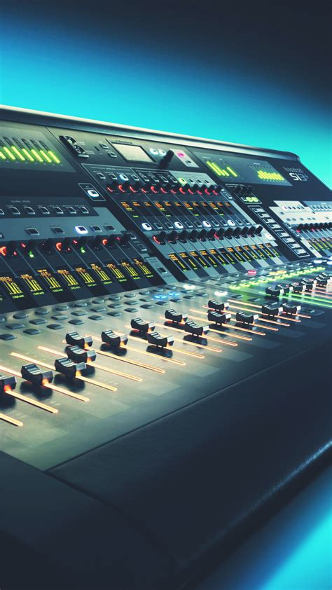 digital mixing console  studio android wallpaper