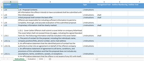 Rfp Requirements Template by Meridian Kits