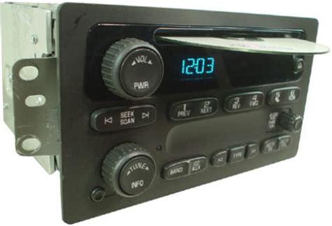 chevrolet silverado  factory amfm stereo