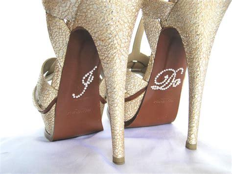 Rhinestone I Do Shoe Stickers. I Do Applique For Shoes