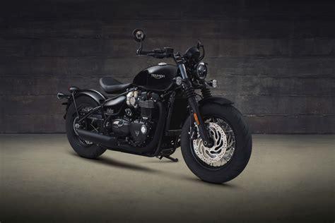 black motorbike 2018 triumph bonneville bobber black revealed motorcycle com