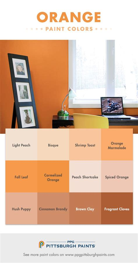 orange paint colors evoke feelings of warmth the sun and