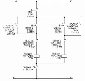Flowchart Schematic Diagram For The Control Circuit Of A Forward Reverse Direct On Line  Dol