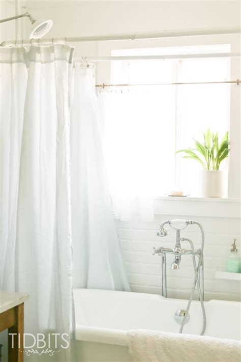 Shower Window Curtains by How To Make A Window Curtain Work For A Shower Curtain