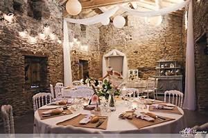 Décoration Mariage Champêtre Chic : 25 d coration salle mariage lin blanc et rose id e ~ Melissatoandfro.com Idées de Décoration