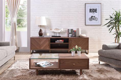 modrest chevron modern walnut tv stand tv media stands living room