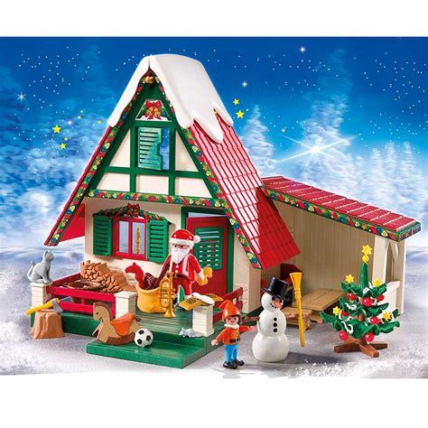 amazon com playmobil santa s home toys games